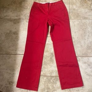 Women's Red Lands' End Trousers